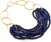 Catherine Canino Lapis Lazuli Gold Twist Necklace