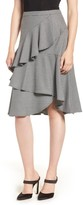 Vince Camuto Tiered Ruffle Houndstooth Skirt (Regular & Plus Size)