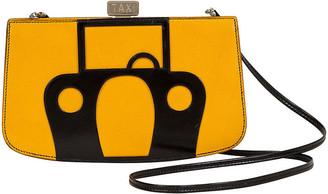 One Kings Lane Vintage Hermes Sac a Malice Taxi - Vintage Lux - yellow/black/palladium