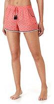 Kensie Crochet-Trimmed Ditsy Sleep Shorts