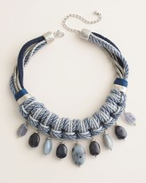 Chico's Chicos Beaded Blue Bib Necklace