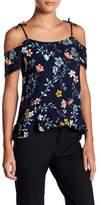 Cooper & Ella Maja Tie Floral Print Blouse
