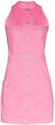 Balmain Button Detail Sleeveless Dress