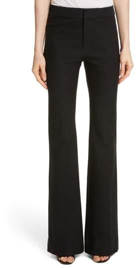 Derek Lam 10 Crosby Flare Leg Stretch Cotton Pants