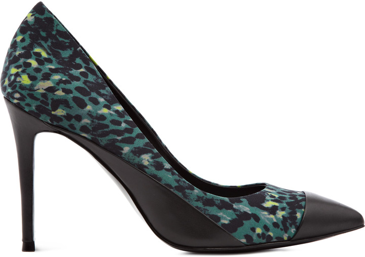 Reiss Mimosa PRINTED TOE CAP POINTED SHOES