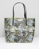 Pauls Boutique Palm Print Shopper Bag