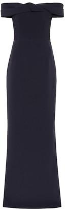 Safiyaa Fleur stretch-crepe gown