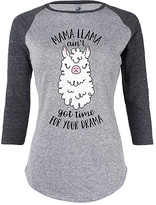 Instant Message Women's Women's Tee Shirts ATH - Athletic Heather & Black 'Mama Llama' Raglan Tee - Women
