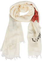 Gucci Corsage Heart Print Scarf