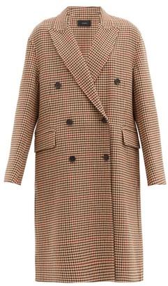 Joseph Carles Houndstooth Wool-blend Double-breasted Coat - Beige Multi