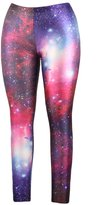 Pink Queen Leggings Fluorescent Printing Print Legging Tights Stretchy