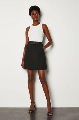 Karen Millen Forever Belted A-Line Skirt