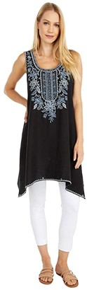 Johnny Was Maike Trapeze Tunic (Black) Women's Clothing