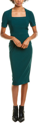 Maggy London Stitched Midi Dress