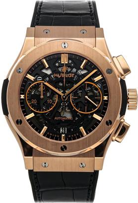 Hublot Black 18K Rose Gold Classic Fusion Aerofusion King 525.OX.0180.LR Men's Wristwatch 45 MM
