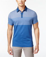 Alfani Men's Stretch Ombré Grid Polo Shirt, Only at Macy's
