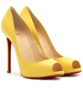 Christian Louboutin FLO 120 PATENT LEATHER PEEP-TOE PUMPS