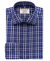 Thomas Pink Meyers Check Classic Fit Button Cuff Shirt