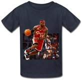 NEOLBOOS Youth's LeBron Raymone James Street Kids Boys And Girls Short Sleeves Cotton T Shirt Size L Navy