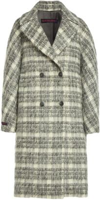 Martin Grant Plaid Mohair-Wool Cocoon Coat