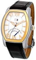 Maurice Lacroix Jours Retrogrades Tonneau Stainless Steel & 18K Rose Gold Strap Mens Watch