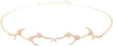 Annette Ferdinandsen Blossom Branch Choker with Rhodochrosite and Pearl Blossoms