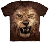 The Mountain Big Roaring Lion Face Head Animal King Adult T-Shirt M