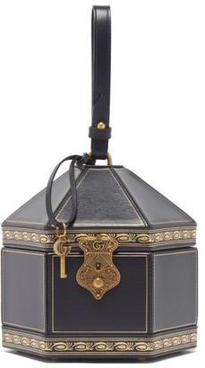 Gucci Geometric Leather Wristlet Clutch - Navy