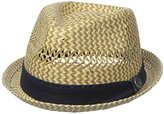 Ben Sherman Men's Vented Straw Trilby