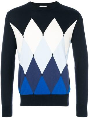 Ballantyne diamond pattern jumper