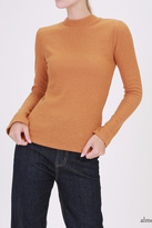 Double Zero Ribbed Mockneck Top