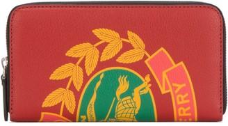 Burberry Printed Zip Around Wallet