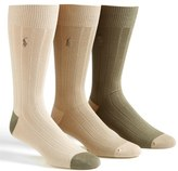 Polo Ralph Lauren Ribbed Socks (3-Pack)