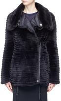 Yves Salomon Reversible Rex rabbit fur down puffer coat