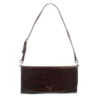Prada Burgundy Exotic leathers Handbags