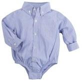 Andy & Evan Infant Boy's 'Shirtzie' Chambray Bodysuit