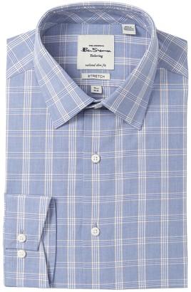 Ben Sherman Plaid Tailored Slim Fit Stretch Dress Shirt