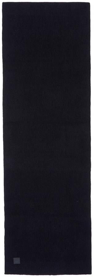 Acne Studios 'Bansy L Face' emoticon patch wool rib knit scarf