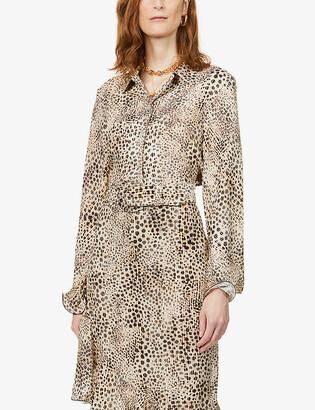 ART DEALER Samantha leopard-print stretch-silk shirt