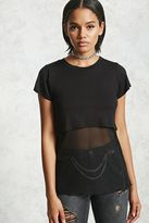 Forever 21 Mesh Layer Combo Top