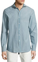Ralph Lauren Chambray Sport Shirt, Light Blue