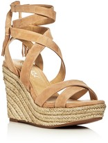 Splendid Janice Ankle Tie Espadrille Wedge Sandals