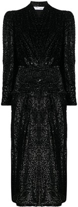 IRO 80's Shoulder Velvet Dress