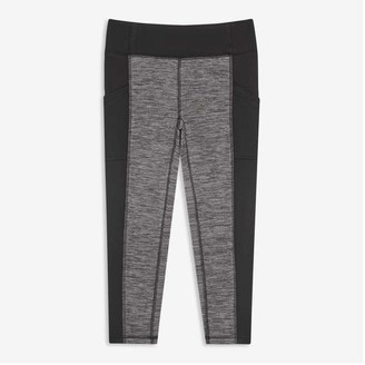 Joe Fresh Kid Girls' Fleece Active Leggings, Charcoal Mix (Size M)