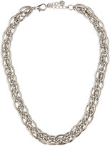 Lydell NYC Rhodium-Tone Chain Collar