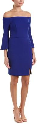 ABS by Allen Schwartz Women's Off-Shoulder Dress with Bell Sleeves