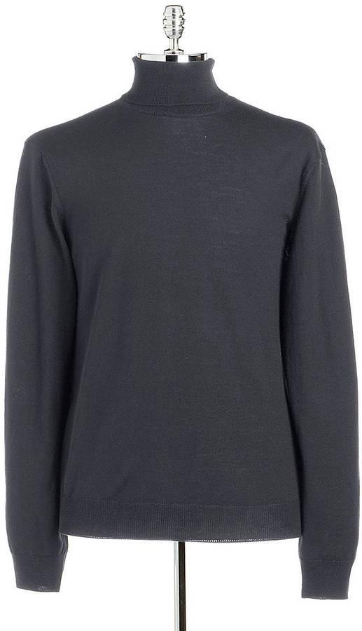 Black Brown 1826 Merino Wool Turtleneck Sweater