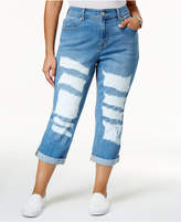 Melissa McCarthy Trendy Plus Size Ripped Girlfriend Jeans