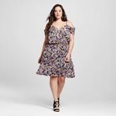 Spenser Jeremy Women's Plus Size Cold Shoulder Smocked Waist Dress Black - Spencer Jeremny