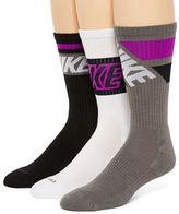 Nike 3-pk. Dri-FIT Fly Rise Crew Socks - Big & Tall